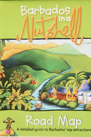 """Barbados in a Nutshell 2014/15 - Map Cover"" -  Shows Next Painting ""Gall Hill, Bathsheba"""