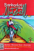 """Barbados in a Nutshell 2014/15 - Front cover shows next painting "" Man on Donkey Cart with Lovesheep"""