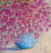"Beautiful Bougainvillia, 24""x 24"" Oil Cold Wax    Can.$500.00"