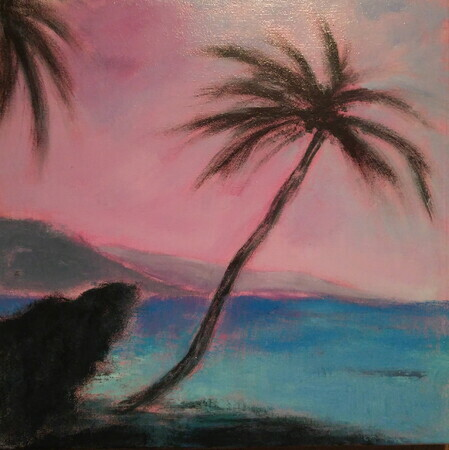 "Beautiful East Coast, Barbados, 12""x 12"", Acrylic on Canvas    Can.$250.00"