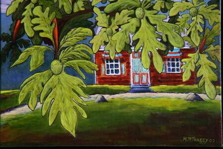 """BREADFRUIT TREE & CHATTEL HOUSE"""