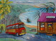 """Bus to Bathsheba"", 18""x 24"", Acrylic on Canvas   SOLD"