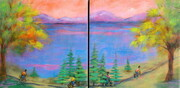 """En Plein Aire"", Dyptych 12""x 24"", Acrylic on Canvas    Can.$300.00"