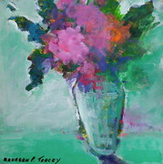 """Floral Fantasy"" 12""x 12"" Acrylic on Paper Mounted on Board    Can.$250.00"
