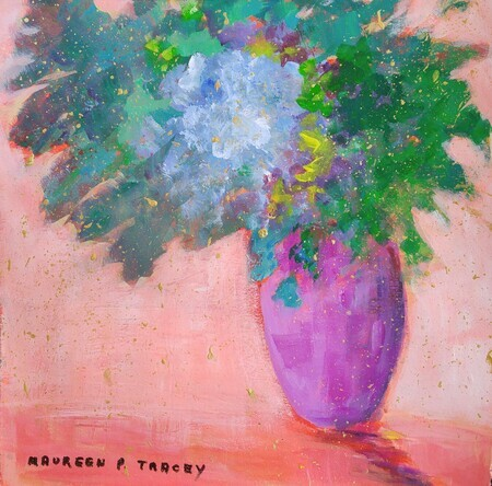 "'Floral Fantasy' 12""x 12"". Price on Request SOLD"