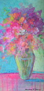 """Floral Fantasy, 24""x 12"", Acrylic on Board   Can.$250.00"