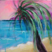 "Magical Palm Tree, 12""x 12"", Acrylic on Canvas    Can.$250.00"