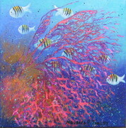 """Magical Sealife"" 12""x 12""  SOLD"
