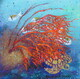 """Magical Sealife & Turtle"", 12""x 12"", Acrylic on Canvas    Can.$250.00"