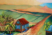 """On the Road to Frizers Plantation"", 18""x 24""    Can.$500.00"