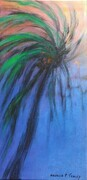 "Palm Tree Abstraction, 24""x 12"", Acrylic on Canvas    Can.$300.00"