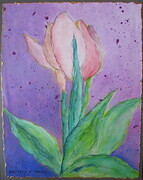 """Spring Flowers, Tulip  14""x 11"", Acrylic on Paper Mounted on Board   Can.$150.00"