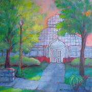 "'The Greenhouse in Westmount Park', 20""x 20"", Acrylic on Canvas  SOLD"