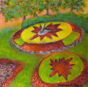 "'Timeless Clock, Westmount Park', 10""x 10"", Acrylic on Canvas    Can.$150.00"